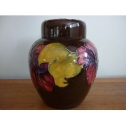 Moorcroft Hibiscus ginger jar