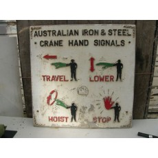 Australian Iron and Steel crane hand signals sign