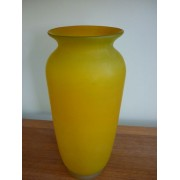 Large yellow glass vase