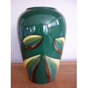 Green glaze vase